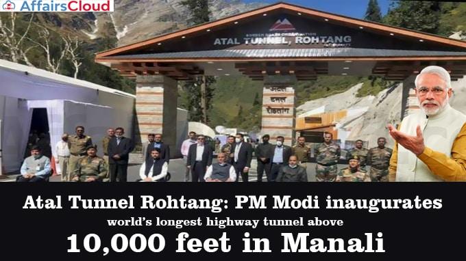 Atal-Tunnel-Rohtan-PM-Modi-inaugurates-world's-longest-highway-tunnel-above-10,000-feet-in-Manali