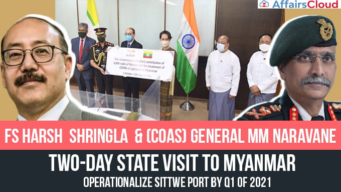 COAS-General-MM-Naravane-&-FS-Harsh--Shringla-Conclude-Two-Day-State-visit-to-Myanmar