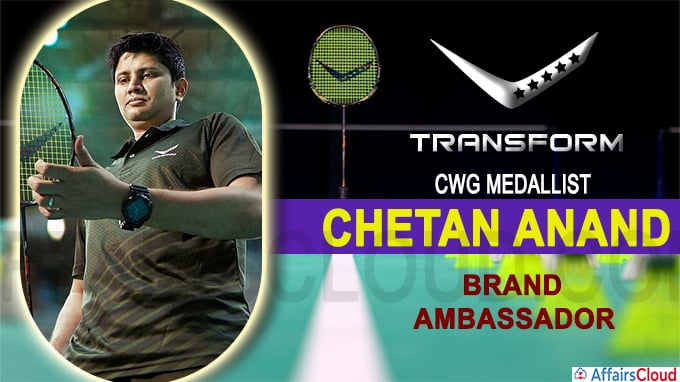CWG medallist Chetan Anand named brand ambassador of 'Transform'