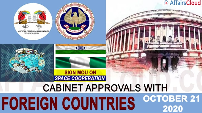 Cabinet approvals with foreign countries