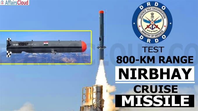 DRDO test 800-km range Nirbhay cruise missile