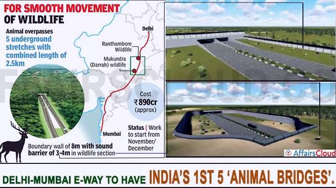 Delhi-Mumbai e-way to have India's 1st 5 'animal bridges'