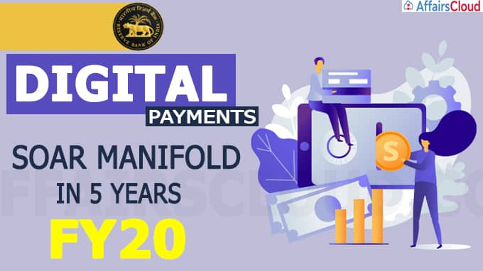 Digital payments soar manifold in 5 years to FY20
