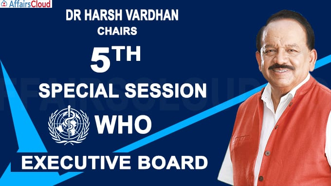 Dr Harsh Vardhan chairs 5th Special Session