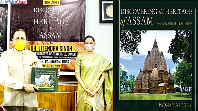 Dr Jitendra Singh releasing Coffee Table Book titled ' Discovering the Heritage of Assam', with foreword by Amitabh Bachchan and published by Penguin