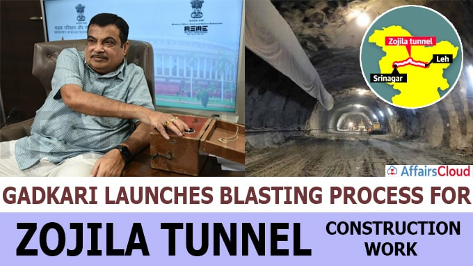 Gadkari launches blasting process for Zojila tunnel construction work