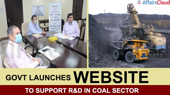 Govt launches website to support R&D in coal sector