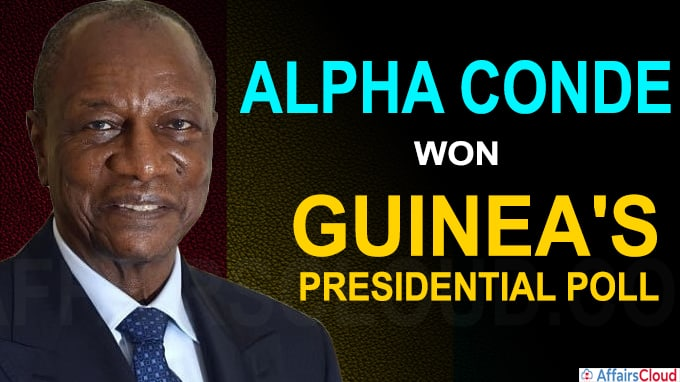 Guinean president Alpha Conde wins a 3rd term