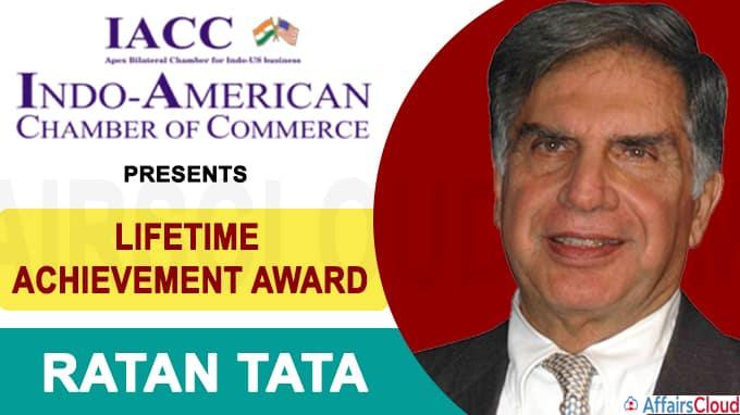 IACC presents lifetime achievement award to Ratan Tata