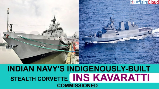 Indian Navy's indigenously-built stealth corvette INS Kavaratti commissioned