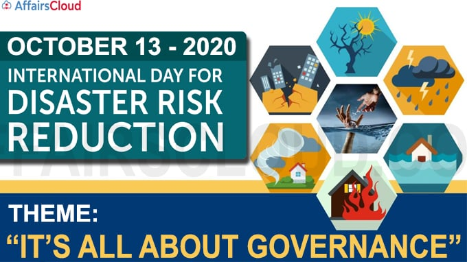 International Day for Disaster Risk Reduction october 13 2020
