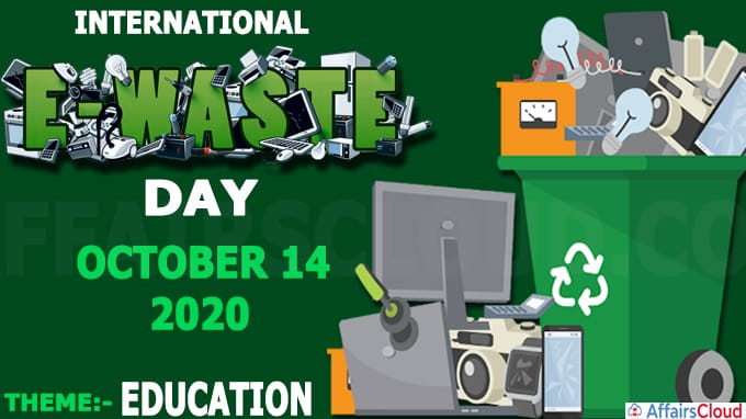 International E-Waste Day - October 14 2020
