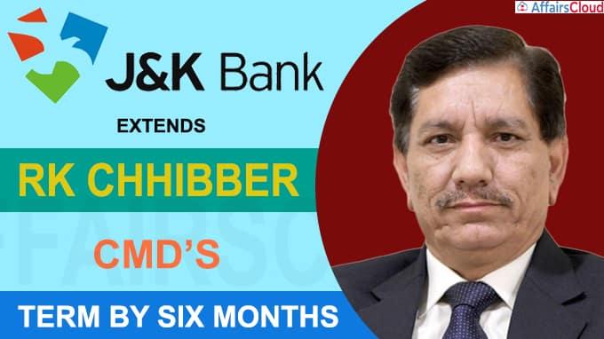 Jammu & Kashmir Bank extends CMD's term by six months