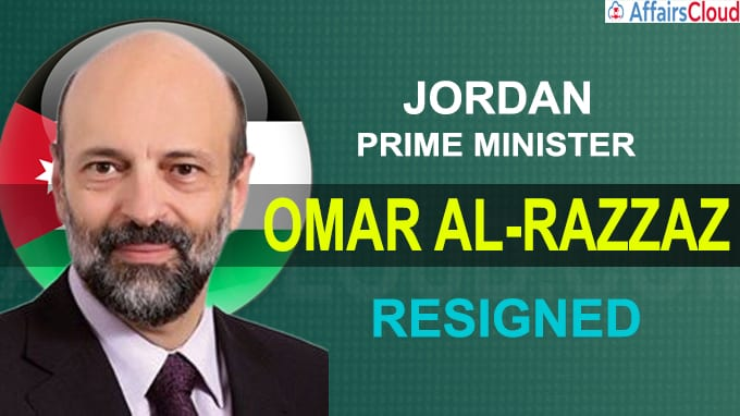 Jordan's King Abdullah accepts resignation of PM Omar al-Razza