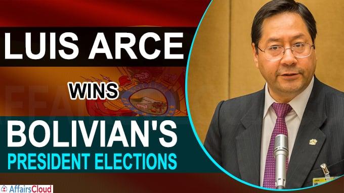 Luis Arce wins landslide in Bolivian's president elections