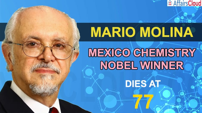 Mario Molina, Mexico chemistry Nobel winner, dies at 77
