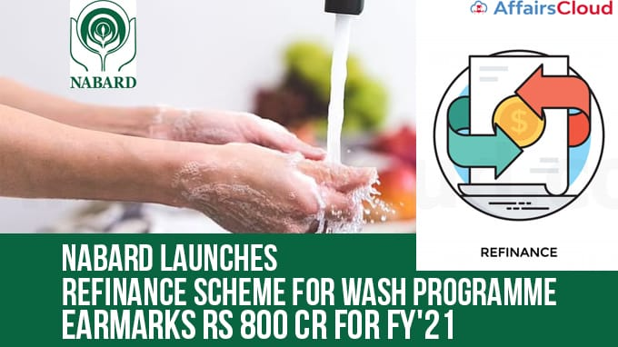 NABARD-launches-refinance-scheme-for-WASH-programme,-earmarks-Rs-800-cr-for-FY'21