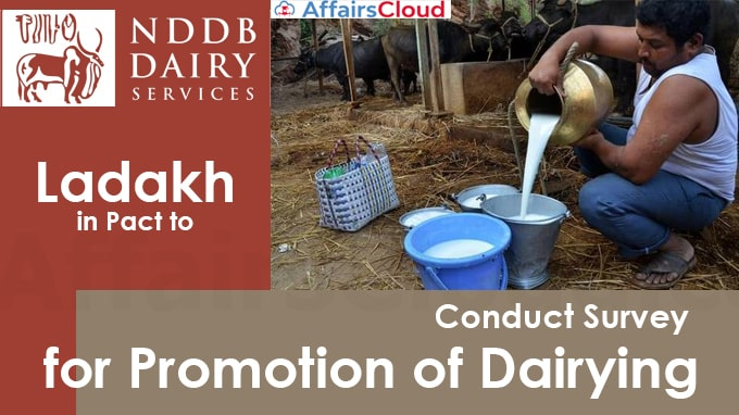 NDDB,-Ladakh-in-pact-to-conduct-survey-for-promotion-of-dairying