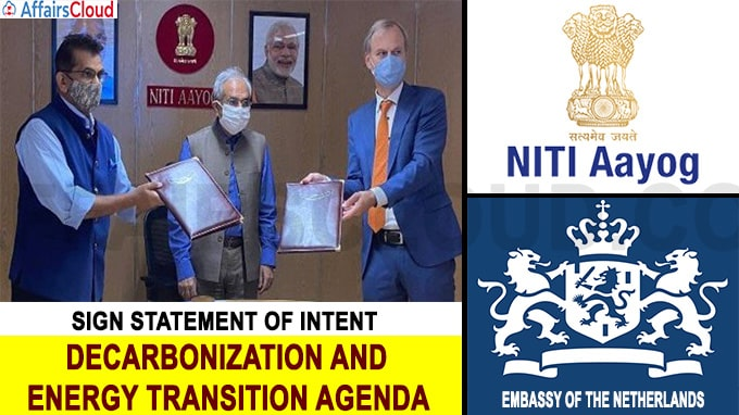 NITI Aayog and Embassy of the Netherlands sign Statement of Intent
