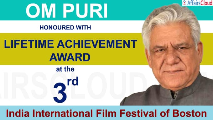 Om Puri was honoured with