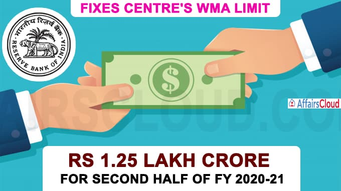 RBI fixes Centre's WMA limit at Rs 1
