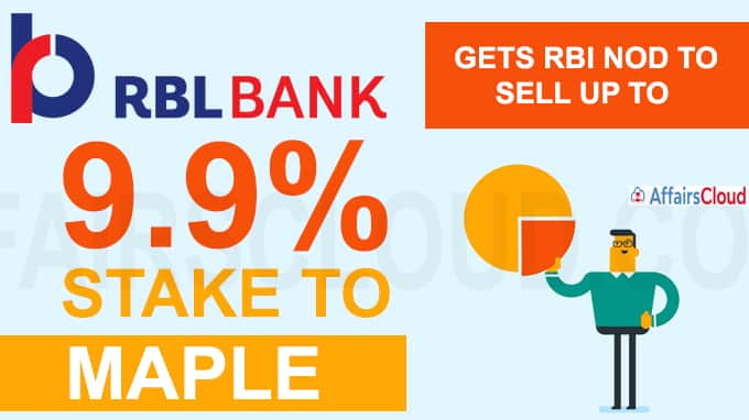 RBL Bank gets RBI nod tosell up to 9