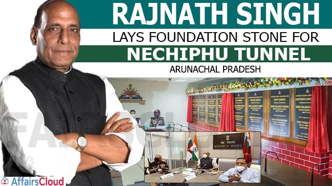 Rajnath Singh Lays Foundation Stone for Nechiphu Tunnel