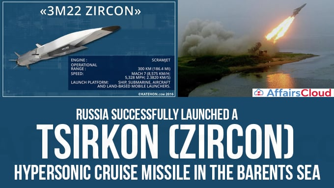 Russia-successfully-launched-a-Tsirkon-(Zircon)-hypersonic-cruise-missile-in-the-Barents-Sea