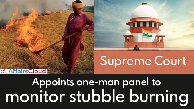 SC-appoints-one-man-panel-to-monitor-stubble-burning