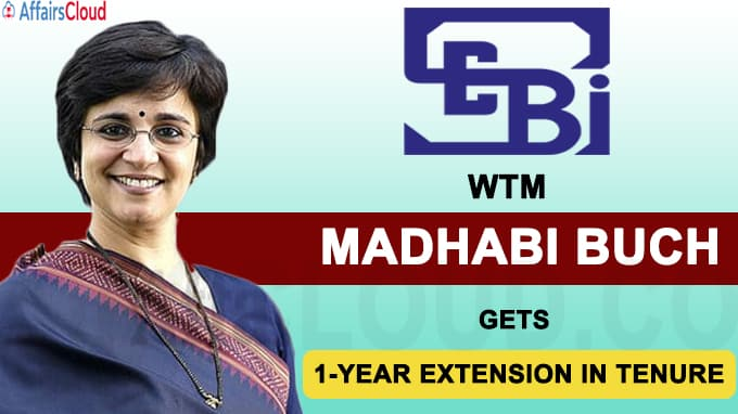 SEBI Whole-Time Member Madhabi Buch gets 1-year extension in tenure