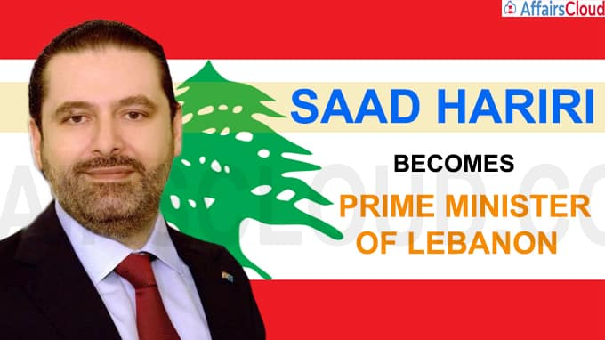 Saad Hariri becomes new Prime Minister of Lebanon
