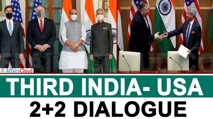 Third India- USA 2+2 dialogue in New Delhi