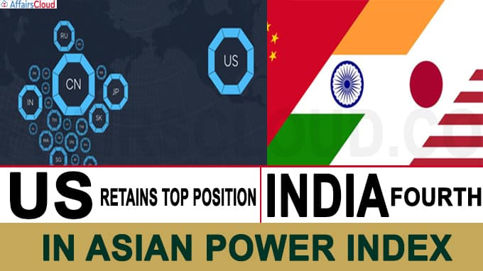 US retains top position in Asia Power Index for 2020