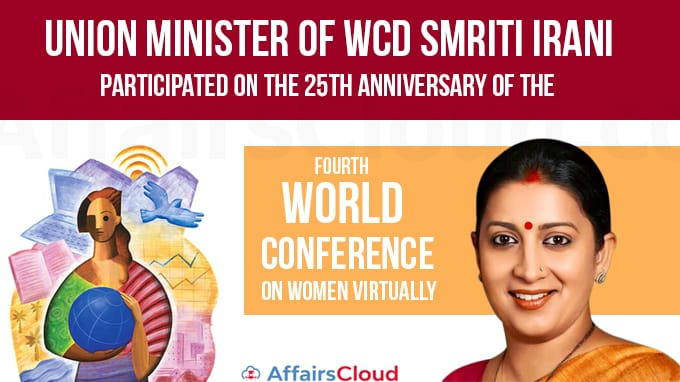 Union-Minister-of-WCD-Smriti-Irani-participated-on-the-25th-Anniversary-of-the-Fourth-World-Conference-on-Women-Virtually