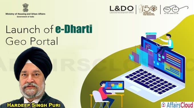 Union minister Puri launches e Dharti Geo portal