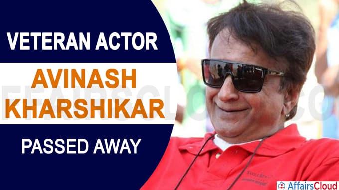 Veteran Marathi actor Avinash Kharshikar dies