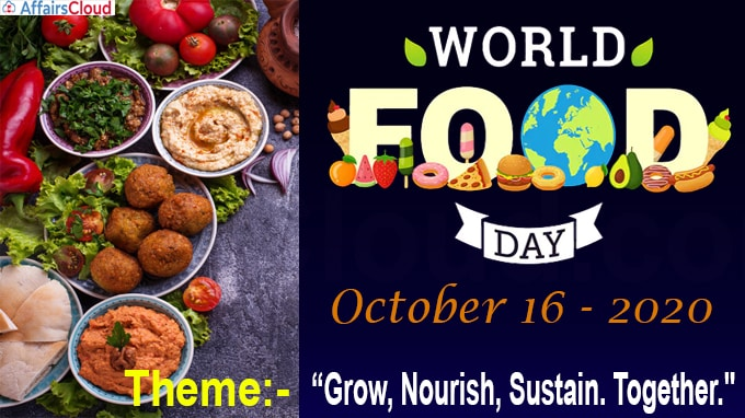 World Food Day - October 16 2020