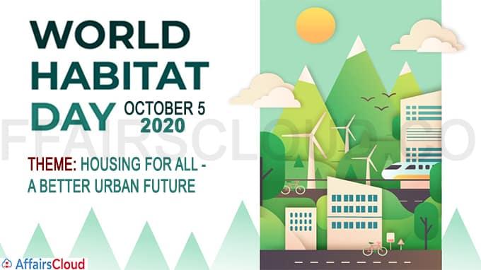 World Habitat Day - October 5 2020