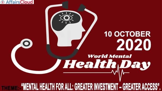 World Mental Health Day 2020 new