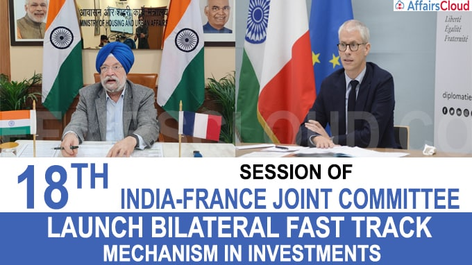 18th Session of India-France Joint Committee