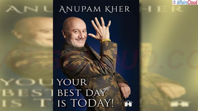 Anupam Kher unveils cover of his new book Your Best Day Is Today