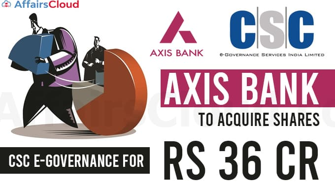 Axis-Bank-to-acquire-shares-in-CSC-e-Governance-for-Rs-36-cr