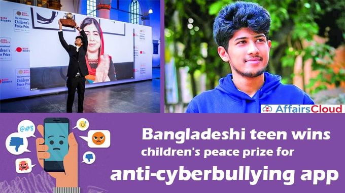 Bangladeshi-teen-wins-children's-peace-prize-for-anti-cyberbullying-app
