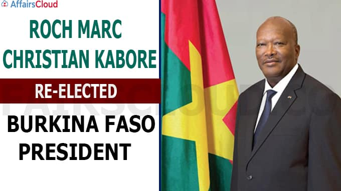 Burkina Faso president Roch Marc Christian Kabore re-elected