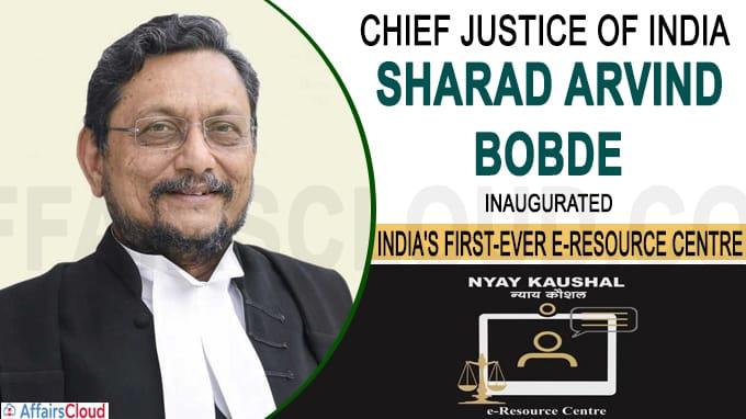 CJI SA Bobde Inaugurated India's First-Ever E-Resource Center Nyay Kaushal In Nagpur