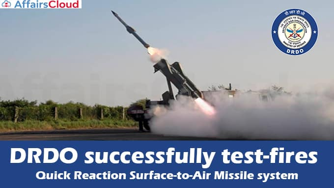DRDO-successfully-test-fires-Quick-Reaction-Surface-to-Air-Missile-system