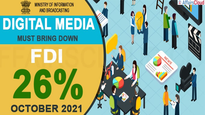 Digital Media Outlets Must Bring Down FDI To 26%