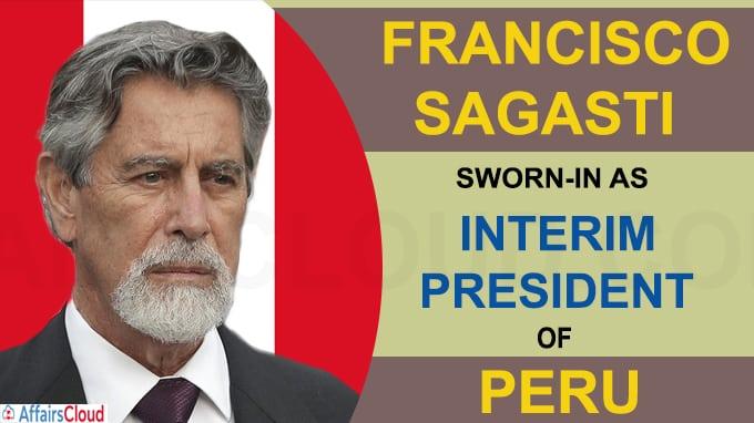Francisco Sagasti sworn-in as the new interim president of Peru