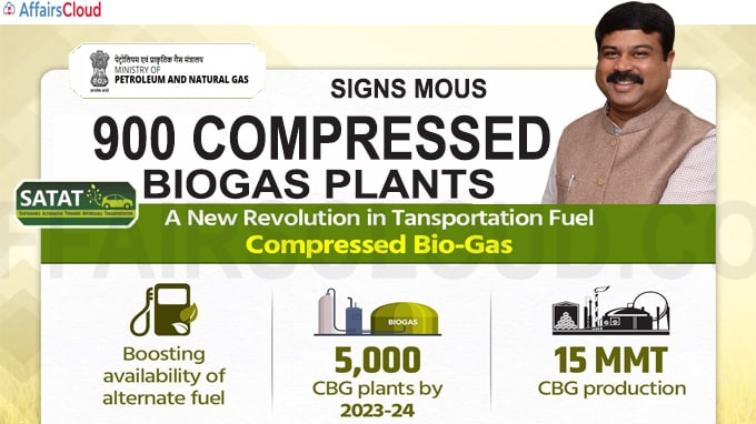 Government signs MoUs for 900 compressed biogas plants
