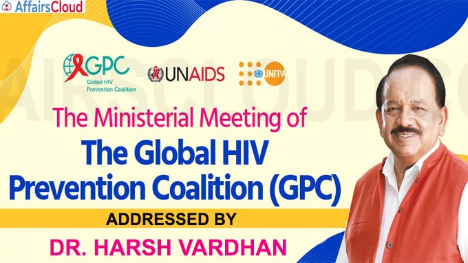 Harsh Vardhan addresses Global Prevention Coalition (GPC) for HIV Prevention